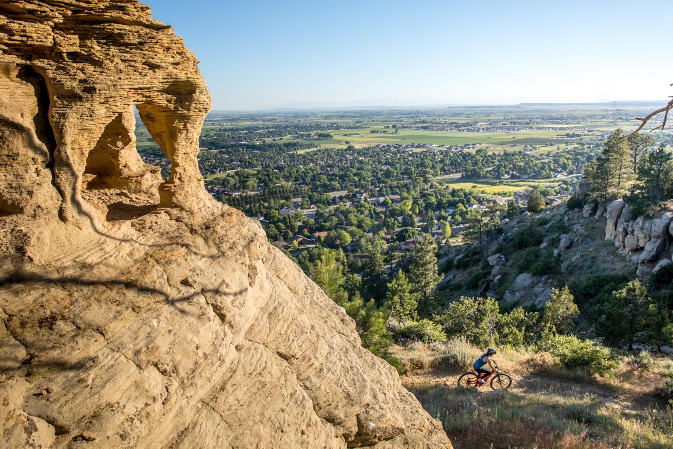 Mountain Biking on Billings Rims