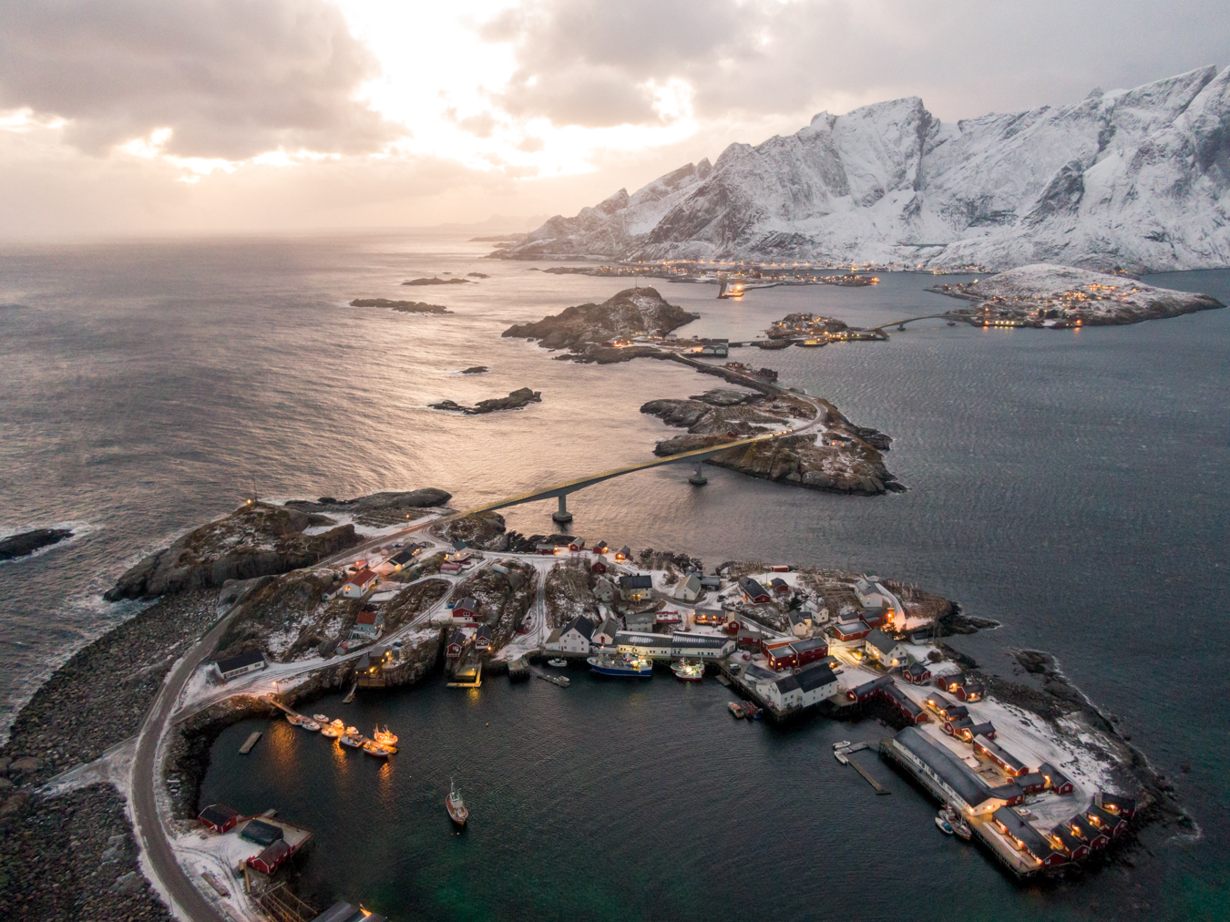 Lofoten Islands Drone in Norway